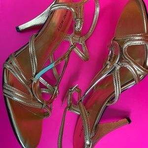 Nine West Gold Sling Heels - Size 7.5